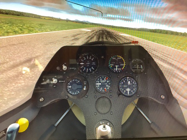 Joe Todaro: screen 1 - rwy 26 before requesting tow-plane for my ASK-21glider