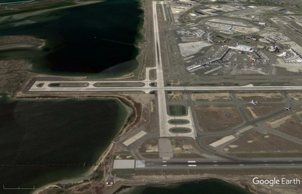 Google Earth view of JFK 31L