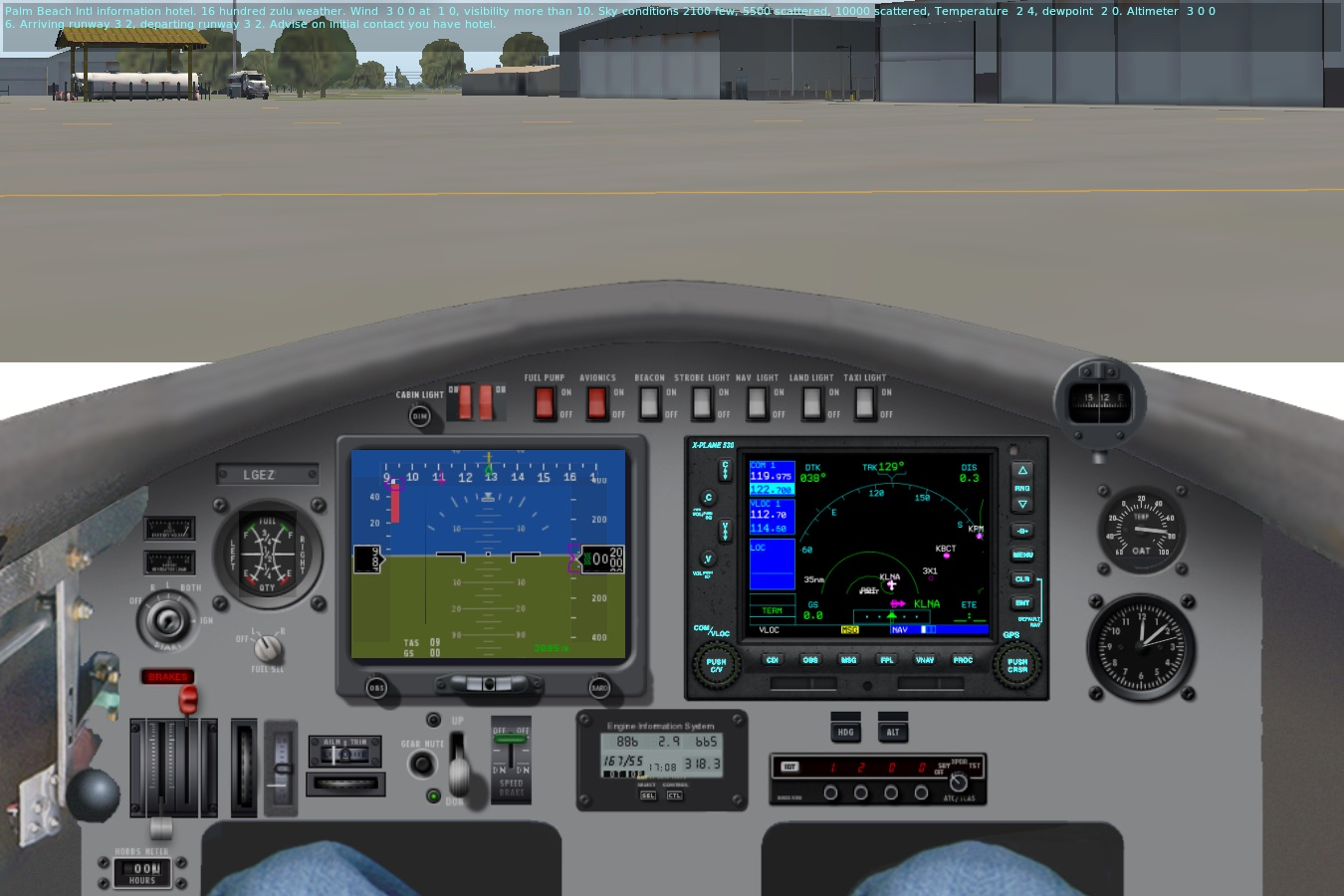 LongEZ N0TEZ Panel for X-Plane 11